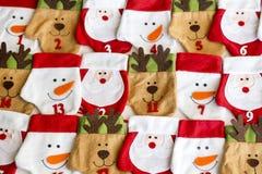 Calze di Natale per i regali - fondo Immagini Stock Libere da Diritti