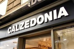 Calzedonia Clothing Store Sign Stuttgart Koenigsstrasse Daytime stock photo
