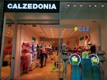 Calzedoniaopslag bij wandelgalerijbaneasa Winkelende Stad, Roemenië royalty-vrije stock foto's