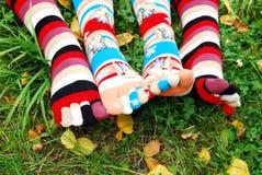 Calzini in autunno. Fotografia Stock
