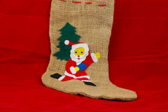 Calzini del Babbo Natale Immagine Stock