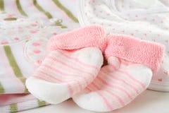 Calzini della neonata Fotografia Stock Libera da Diritti