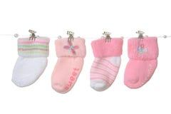 Calzini della neonata Fotografie Stock Libere da Diritti