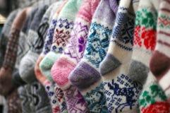 Calzini di lana Fotografia Stock