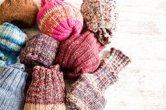 Calzini di lana Fotografia Stock Libera da Diritti