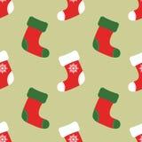 Calzini di Natale per Santa Claus, per i dolci e per i regali Progettazione sveglia piana moderna Immagine Stock Libera da Diritti