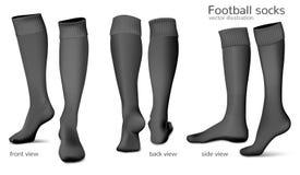 Calzini di vettore di calcio Fotografia Stock