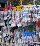 Calzini e guanti fatti da lana Fotografie Stock Libere da Diritti
