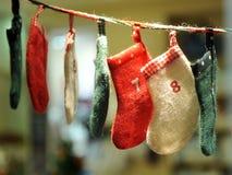 Calzini infantili per i regali di Natale Fotografie Stock Libere da Diritti