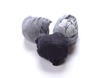 Calzini puliti neri di bianco grigio Fotografia Stock