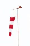 Calzino di vento che appende giù in un nessun giorno del vento Fotografie Stock