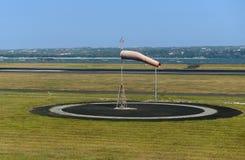 Calzino di vento nell'aeroporto Fotografia Stock Libera da Diritti