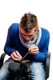 Calzolaio - riparazione delle scarpe Fotografia Stock Libera da Diritti