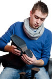 Calzolaio - riparazione delle scarpe Fotografia Stock
