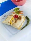Calzoncino & met kerrie gekruide groente Royalty-vrije Stock Foto