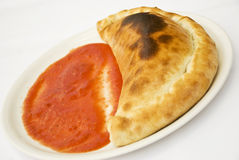 calzone薄饼 库存图片