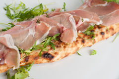 Calzone con spek e rucola. royalty free stock photo