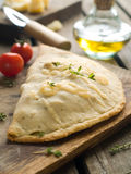 Calzone pizza Stock Images