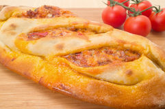 Calzone pizza Royaltyfria Bilder