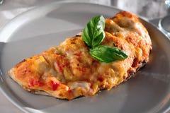 Calzone pizza Arkivfoton