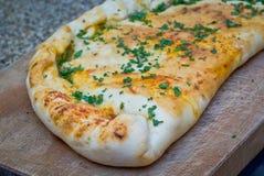 Calzone pizza Royaltyfri Fotografi
