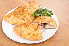 Calzone pizza Fotografia Stock