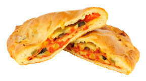 Calzone Pizza Isolated On white Royalty Free Stock Photography