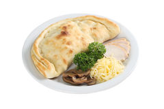 Calzone on a plate Stock Image