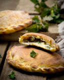 Calzone with ricotta  and  nettle Stock Photography