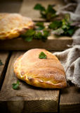 Calzone with ricotta  and  nettle Stock Image