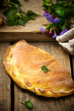 Calzone with ricotta  and  nettle Royalty Free Stock Photo