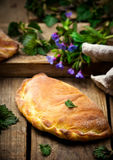 Calzone with ricotta  and  nettle Royalty Free Stock Photography