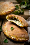 Calzone with ricotta  and  nettle Royalty Free Stock Images