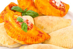 Calzone stuffed Royalty Free Stock Images