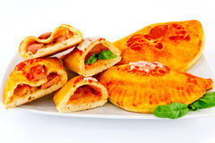 Calzone stuffed Stock Photos