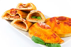Calzone stuffed Royalty Free Stock Photo