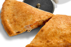 Calzone on white Stock Images