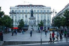 Camões τετραγωνικό (βραδύτατο Camões), στο κέντρο της πόλης Λισσαβώνα (Λισσαβώνα), Πορτογαλία Στοκ Εικόνες
