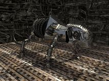 Caméléon de robot en métal Photo libre de droits