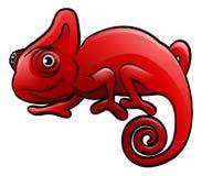 Caméléon Safari Animals Cartoon Character Image libre de droits