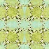 Camélia - flores, botões e folhas - em um fundo da aquarela Fotos de Stock Royalty Free