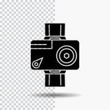 caméra, action, numérique, visuelle, icône de Glyph de photo sur le fond transparent Ic?ne noire illustration de vecteur