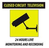 Caméra de sécurité dans l'action Images libres de droits