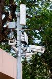 caméra de sécurité dans le jardin Image stock