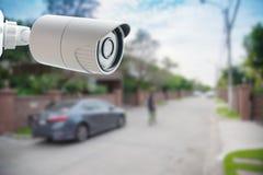 Caméra de sécurité de télévision en circuit fermé, Image stock
