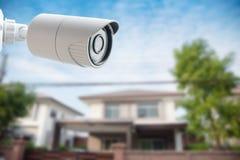 Caméra de sécurité de télévision en circuit fermé pour votre maison Photo libre de droits