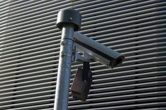 Caméra de sécurité dehors Photos libres de droits