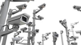 Caméra de sécurité et chaos Images libres de droits