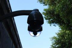 Caméra de sécurité moderne, télévision en circuit fermé de public Photographie stock libre de droits