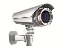 Caméra de sécurité sur le fond blanc Photographie stock libre de droits